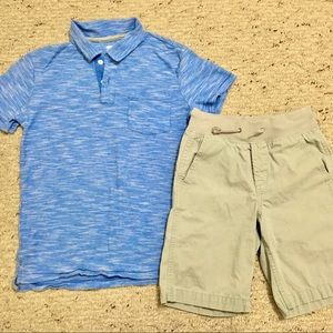 Boys Polo Shirt and Chino Shorts Outfit